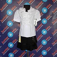 Белая детская школьная блузка для девочки TERKO