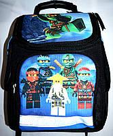 Детский каркасный школьный рюкзак для маличика 27*33 (черный)