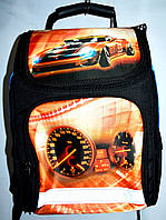 Детский каркасный школьный рюкзак для маличика 27*33 (машина)