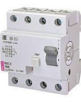 Реле дифференциальное (УЗО) ETI EFI6-4 16А/0,03А тип AC