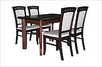 Стол обеденный Комфорт орех 120/200х80 деревянный раскладной