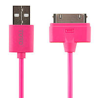 Кабель TOTO TKG-15 High speed USB cable iPhone4 0,9m Pink