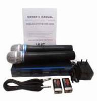 Комплект профессиональных микрофонов UKC DM-4000 UHF с радиобазой
