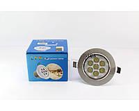 Светодиодная лампочка UKC 7W, врезная лампа, круглая, точечная, 7 светодиодов 1403