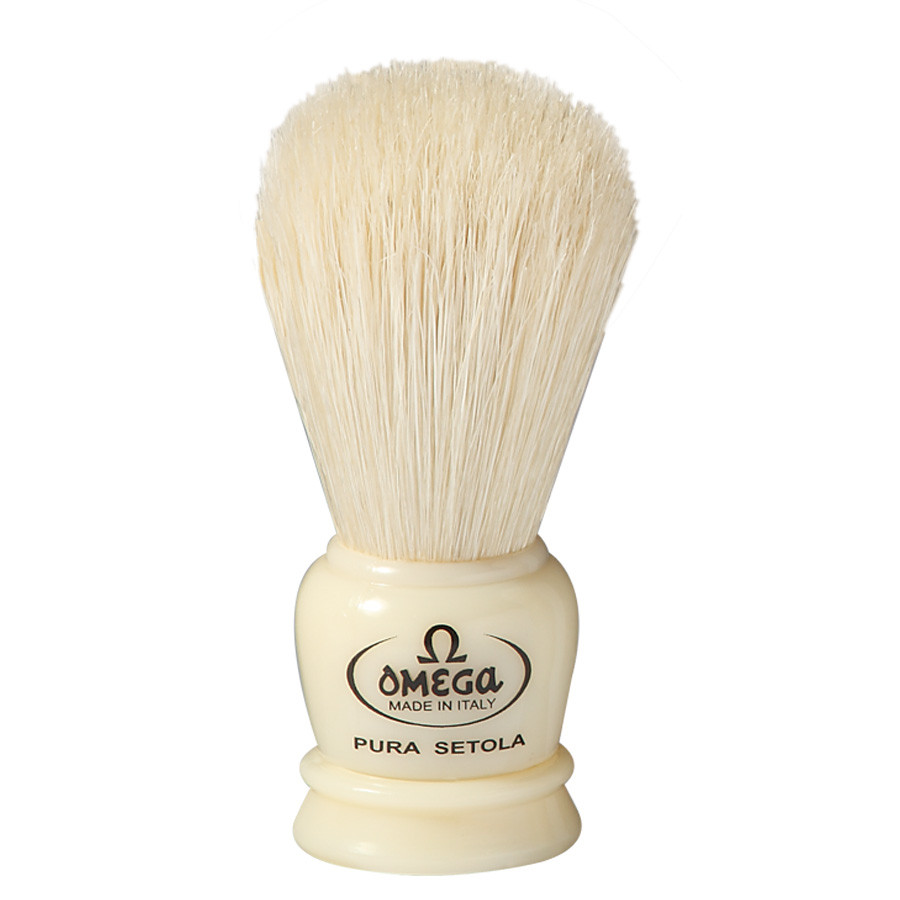 Помазок Omega 50068 натуральный ворс кабана белый