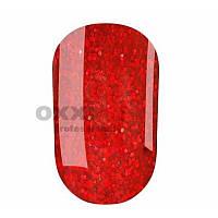 Гель-лак Oxxi 8 мл №147 красный с красными блестками