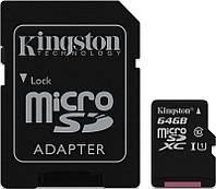 Карта памяти Kingston microSDXC 64Gb class 10 UHS-I Ultra + SD adapter