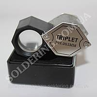 Ручная лупа складная, 20X увеличение, диаметр 20.5мм Magnifier 22188А