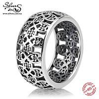 """Серебряное кольцо Пандора (Pandora) """"Ажурная решетка"""""""