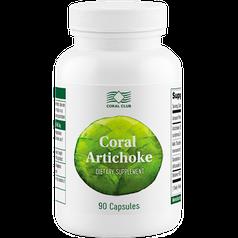 Корал Артишок-Натуральный препарат для печени,выводит из организма токсины, соли тяжелых металлов 90 капс