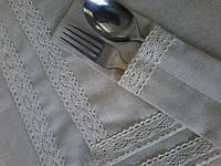 Льняные конверты для столовых приборов