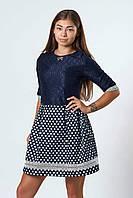 Школьное подростковое платье м-354