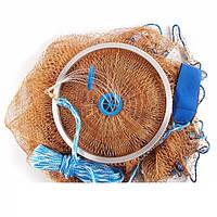 Кастинговая сеть Американка капроновая, парашют рыбацкий, диаметр 4 м. для промышленного лова