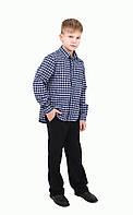 Рубашка классическая в клетку для мальчика (6-12 лет)