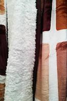 """Одеяло с мехом """"Клетка"""" Евро"""