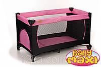 Манеж-кровать BABYmaxi BASIC Pink розовый