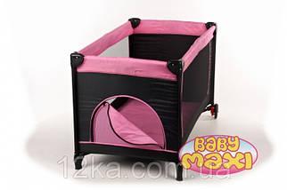 Манеж-кровать BABYmaxi BASIC Pink розовый, фото 3