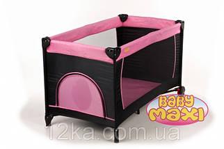 Манеж-кровать BABYmaxi BASIC Pink розовый, фото 2