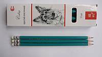 Карандаш простой Эластичный с ластиком Color-it HВ чернографитный для рисования,графики и черчения.Простой кар