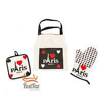 Набор для кухни прихватка с фартуком и рукавицей Paris