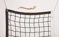 Сітка для волейболу (PL 2,5 мм, р-н 9,5х1м, осередок 12х12см, з метал. тросом)