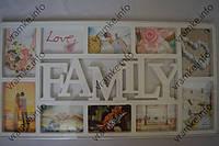 Рамка коллаж A-101 Family 10 фото белая