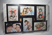 Рамка коллаж 7859 черная 6 фото