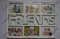 Рамка коллаж 809 Friends 6 фото белая