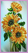 Набір для вишивання бісером Натюрморт з соняшниками