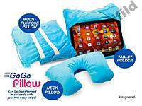 Подушка подставка Go Go Pillow 3 в 1 подходит для Apple iPad, iPad-мини, Samsung Galaxy Note, Kindle Fire