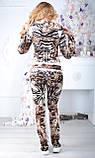 """Жіночий велюровий турецький костюм """"EZE"""" зі стразами ; розм 50,52,54,56, 2 кольори, фото 4"""