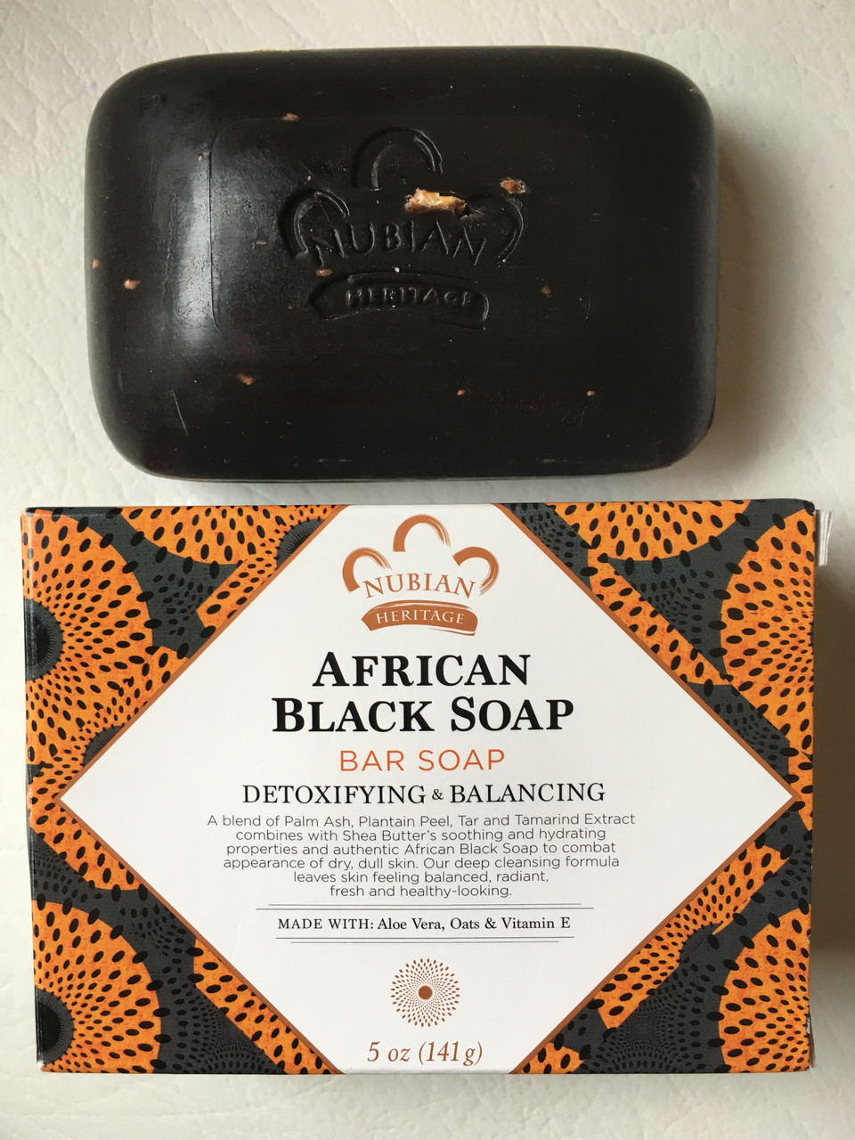 Африканское черное мыло NUBIAN HERITAGE African Black Soap