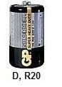 Комплект батареек 4 шт тип D R20