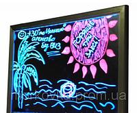 Рекламная светящаяся LED доска 500х700 ( флуоресцентная ) 500 х 700 fluorecent board 50*70
