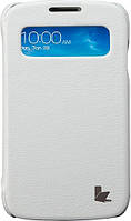 Jisoncase Premium Leatherette Folio Case для Samsung Galaxy S4 White