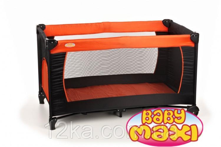 Манеж-кровать BABYmaxi BASIC Orange оранжевый