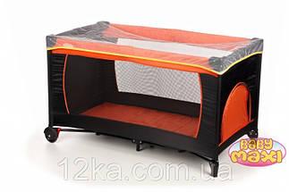 Манеж-кровать BABYmaxi BASIC Orange оранжевый, фото 2