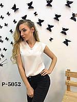Женская шифоновая блузка без рукавов Цвета 116 КА