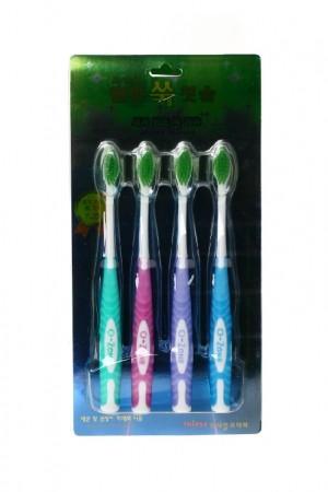 Турмалиновые зубные щетки Вековой Восток (4 штуки)