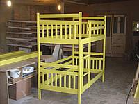 """Ліжко дерев""""янне з масиву бук Артур жовтий"""