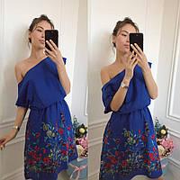 Льняное платье с вышивкой Цвета Батал д1253.1  Аванта 1234