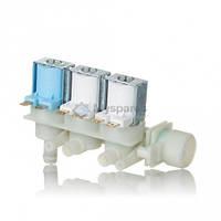 Электроклапан для воды впускной трехходовой 3/90/180  2-а в бок 1-н вверх C00080664