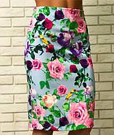 Цветочная юбка Батал  03468 ВС