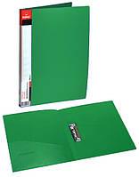 Папка с прижимом + карман А4, 2см, PР, зелен., 5034, NORMA