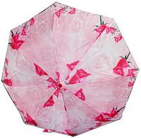 Женский зонт полуавтомат  цветной (8 спиц)