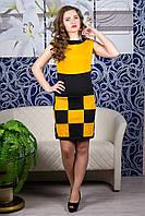 Платье Шахматка (горчица)