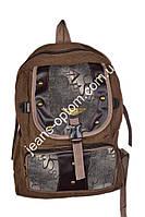 Рюкзак буквы 0024 (43х34) коричневый