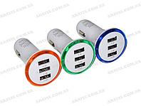 Зарядное /Адаптор тройной (2.1+1+1 Амп) 12V USB