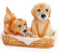"""Набор для специй """"Собачки"""" солонка и перечница на подставке"""