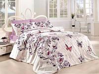 Постельное белье First Сhoice Kelebek евро de luxe ранфорс цветной